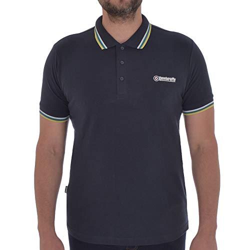 Lambretta Herren Poloshirt, kurzärmelig, Retro-Stil, Baumwolle - - X-Groß