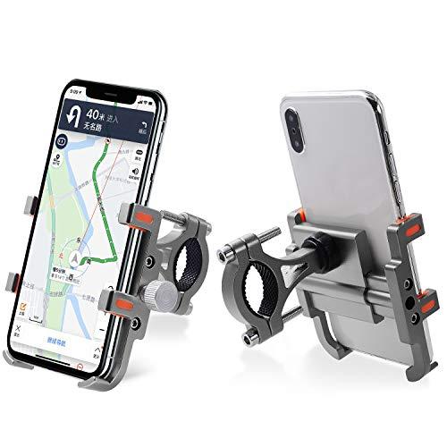 RONSHIN Motorfiets Zes klauwen Aluminium Mobiele Telefoon Beugel Rijden Fiets Navigatie Beugel Bevestiging Frame Motorfiets Accessoires as shown Titanium stuur