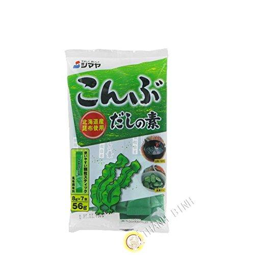 Brühe, Dashi-alge Kombu-no-moto SHIMAYA Japan 56g - Pack von 3 pcs