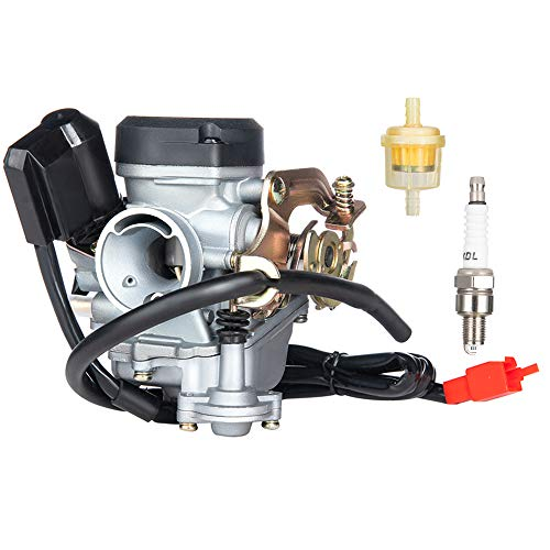 PUCKY Carburetor for GY6 49cc Four Stroke with Jet Upgrades Scooter Moped ATV