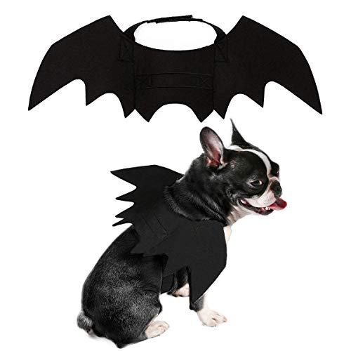 PEDOMUS Hundekostüm Halloween Kostüm Hund Katze Vampir Fledermaus Flügel Kostüme Medium