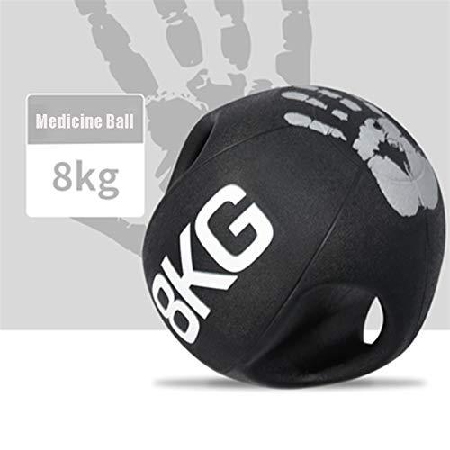 Balón Medicinal Caucho Kettlebell Bola De Gravedad con Asa, Masculino Y Femenino Core Muscle Training Balance Training Aerobic Ejercicio Fitness Ball (Size : 8kg/17.6lbs)