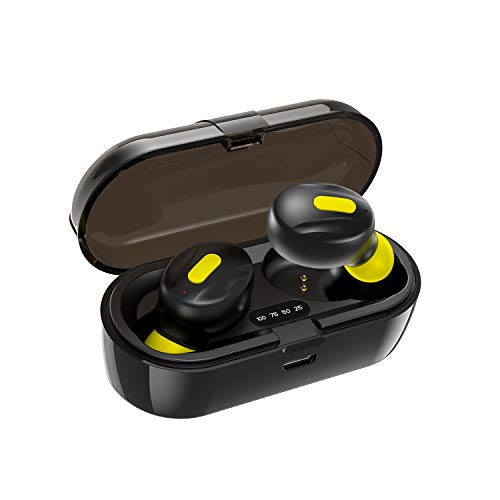 WeCool Moonwalk Mini Earbuds with Magnetic Charging Case IPX5 Wireless Earphones with Digital Battery Indicator for Crisp Sound Bluetooth Earphones for Secure Sports Fit