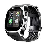 Smart Watch con la fotocamera Bluetooth Smart Band Support SIM TF Card Call Call Sport Pedometro per telefono nero, orologio intelligente