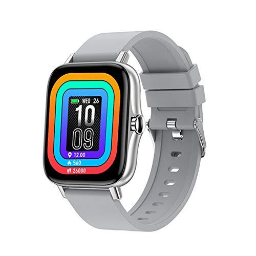 XXH Smartwatch 1,7 Pulgadas Pantalla Completa De Mujeres Y Hombres, Llamadas De Bluetooth, Android iOS Tarifa Cardíaca Presión Arterial T42 Reloj Sports Fitness Tracker Watch,F