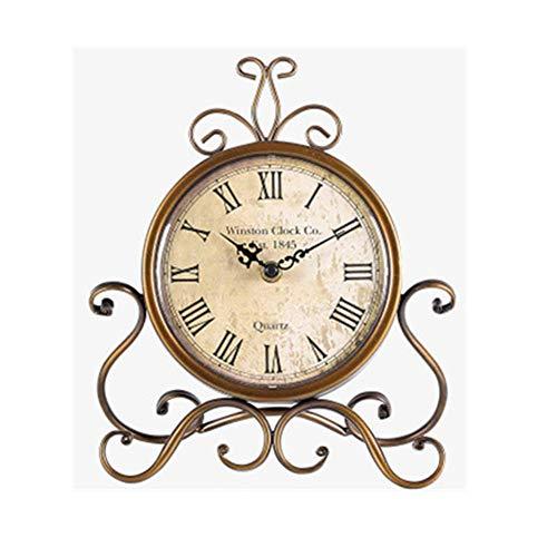 Tisch Uhren, Vintage ohne Ticken Römische Heim Dekorativ Uhr Brown, Batteriebetrieben für Wohnzimmer Schlafzimmer Büro