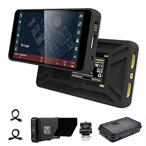 Portkeys PT5 モニター 5'' ウルトラHD 4Kタッチスクリーン 1920*1080 3D LUT HDMIデジタル一眼レフカメラ...