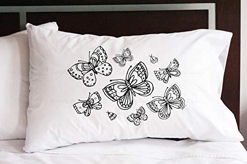 Funda de almohada de mariposa para sofá de habitación