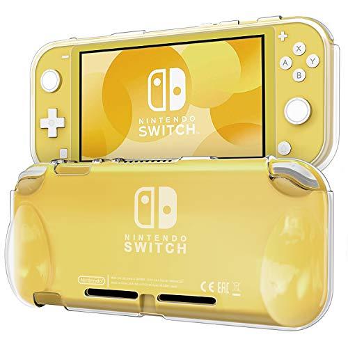 Blukar Funda Nintendo Switch Lite(2019), Carcasa Caso Transparente Silicona TPU Suave Anti-Arañazos Absorción de Choque con...