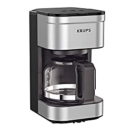 Image of KRUPS Simply Brew Compact Filter Drip Coffee Maker, 5-Cup, Silver: Bestviewsreviews