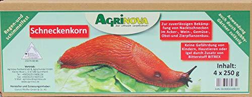 Agrinova Schneckenkorn Regen & Schimmelfest / 5 kg Sparpack (5 Kartons à 4 x 250 g) zuverlässig gegen Nacktschnecken