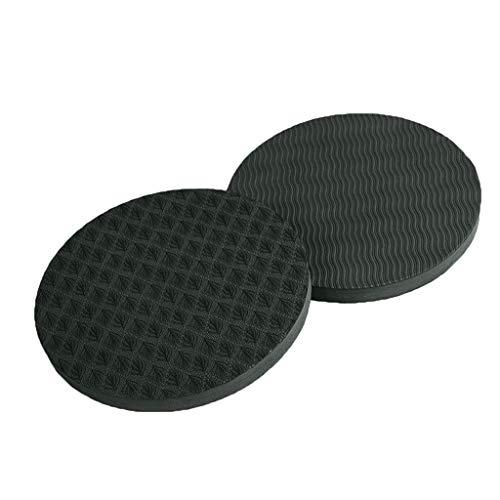 Andouy Yoga Knee Pad Pilates Workout Mat Yoga-Kniepolster für Workout, Runde Ellenbogenscheibe, Schutz für Gelenke und Ellbogen, 2 Stück(17X1.5CM.Schwarz)
