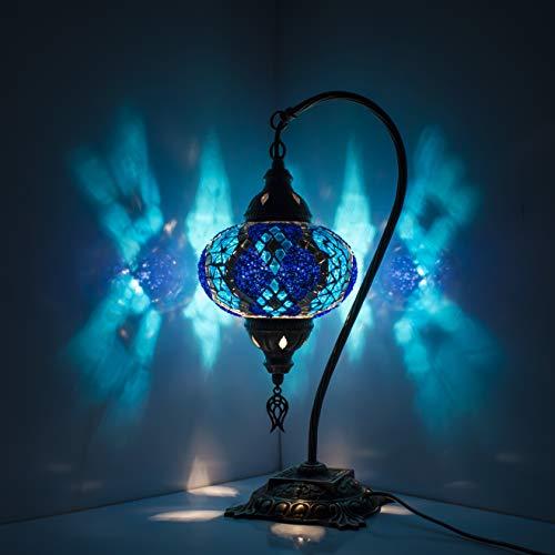 Lampada turca a mosaico fatta a mano, lampada da tavolo in stile marocchino, lampada decorativa a mosaico rustico, lampada a mosaico, lampadina a LED inclusa con scatola speciale
