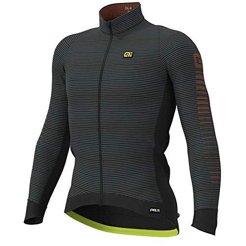 Alé Cycling Graphics PRR Thermo Road Langarm Trikot Herren Black-Fluo Yellow Größe M 2020 Radtrikot langärmlig