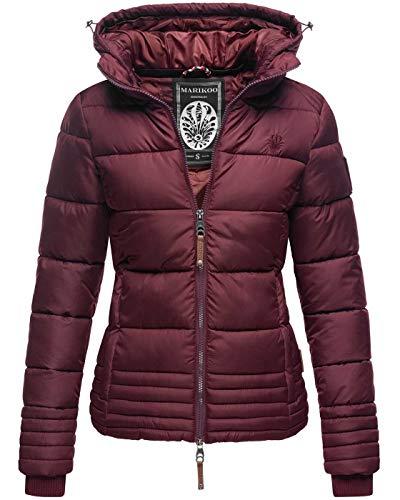 Marikoo Designer Damen Winter Jacke Steppjacke Winterjacke Stepp gesteppt B668 [B668-Sol-Weinrot-Gr.M]