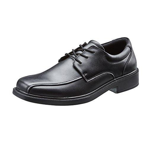 READS Zapatos Escolares para Niños Cordones Negros Doble Ajuste Ajustable 'Dual Fit Niños Activos Turín GARANTÍA Indestructible DE 12 Meses