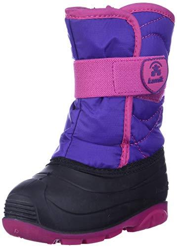 Kamik baby-girls' SNOWBUG3 Snow Boot, Purple/Magenta, 10 Medium US Toddler