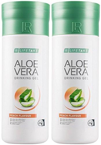 LR LIFETAKT Aloe Vera Drinking Gel Pfirsich Nahrungsergänzungsmittel (2x 1000 ml)