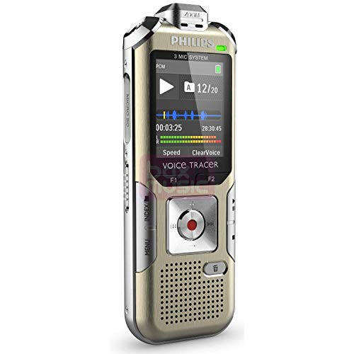 Find Cheap Philips DVT6500 Voice Tracer 6500 Digital Recorder, 4 GB Memory, Gold