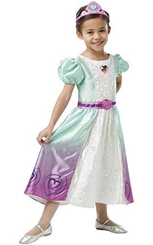 Nella The Knight - Disfraz de Nella vestido largo para niña, infantil 5-7 años (Rubie's 640990-M)
