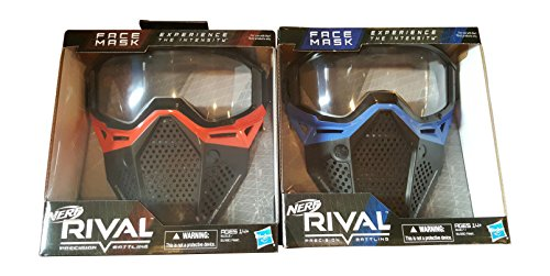 Nerf Rival Face Masks Red and Blue Bundle