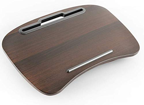 Hilier Lapdesk Laptop Stand with Detachable Cushion Pillow Pad (Walnut)