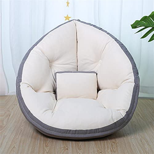 DFGL Lazy Sofa Bolso Plegable De Frijol Plegable Individual Pequeño Sofá Cama Dormitorio Cama Ventana Sillón Grey-140cm*70cm