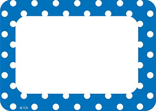 Teacher Created Resources Blue Polka Dots Name Tags/Labels (5585)