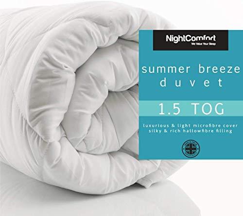Summer Cool Duvet/Quilt Microfibre Soft Touch 1.5/3 Tog Hollow Fibre Duvet/Summer Breeze Duvet Extra Light (1.5 Tog, SuperKing)