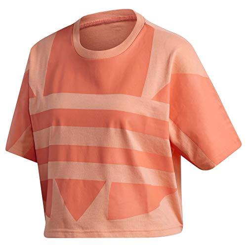 adidas Originals Women's Large Logo Tee Chalk Coral/Semi Coral X-Large