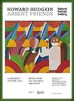 ポスター ハワード ホジキン Absent Friends The Tilsons Exhibition 額装品 ウッドベーシックフレーム(グリーン)