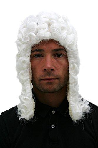 WIG ME UP - PW0171-P60 Perücke: Richter Judge Barock Loge Adeliger NEU
