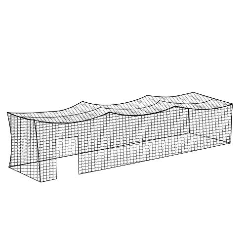 Aoneky Nylon 8x8x20ft   10x10x35ft   12x12x55ft Baseball Batting Cage Netting - Small Pro Garage Softball Batting Cage Net (12x12x55ft)
