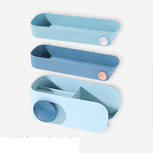Grille de séchage cheveux libres punch,Ensemble de tenture murale de salle de bains Support de rangement vidange-U