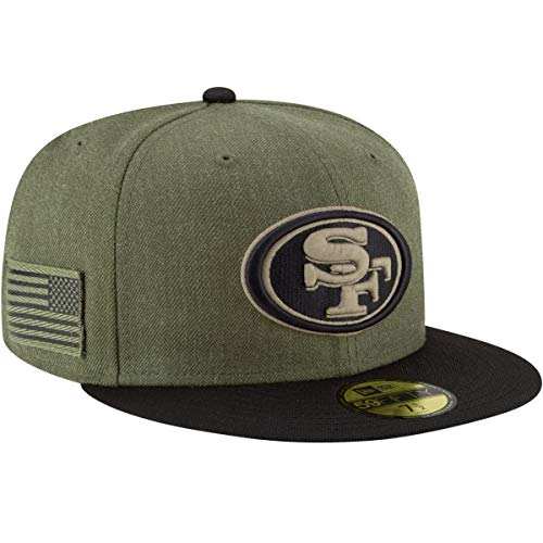 New Era San Francisco 49ers 2018 Salute to Service 59FIFTY On Field...