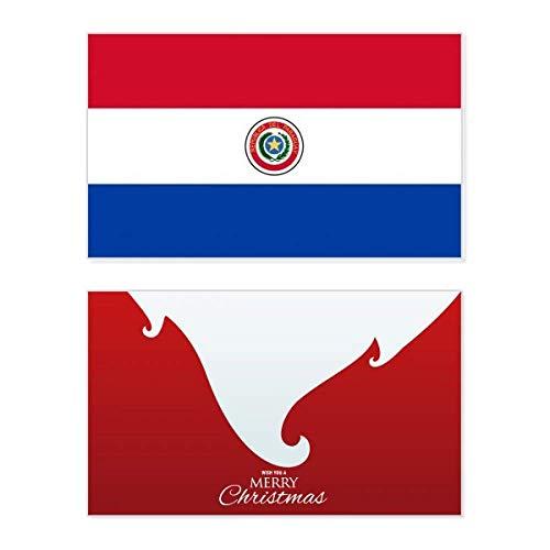 Paraguay-Nationalflagge Südamerika Land Urlaub Merry Christmas Karte Weihnachten Vintage Nachricht