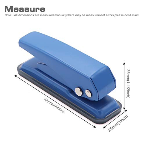 """2 pcs Low Force Hole Punch, 20 Sheets Punch Capacity, 1/4"""" Holes, Hole Puncher, Paper Punch Hand Punch with Skid-Resistant Base for Paper, Chipboard, Thin Metal, Craft Paper and Art Project Photo #3"""