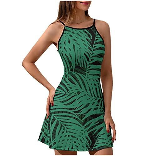 Vestido de playa tropical con diseño de palmera hawaiana, vestido de verano para mujer, elegante estampado, Blanco, XXL