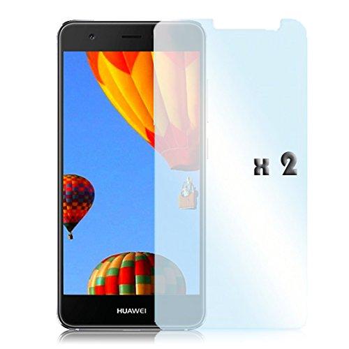 [1x Pack] 9H Schutzglas für Huawei Nova Plus   Hart Schutzglas mit 9H Festigkeit   Menexaktswahl   Klar / Transparent   0,3 mm Dünn Bildschirmschutz   2.5 Kante   Premium Echt Glasfolie für Huawei Nova Plus