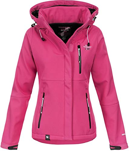 Geographical Norway Damen Outdoor Softshelljacke Touna B Kapuze Flashy pink S