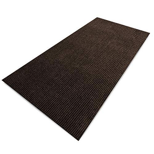 Floori Küchenläufer   strapazierfähiger Teppich Läufer für Küche, Flur UVM.   Teppichläufer/Flurläufer in vielen Größen und Farben   100x250cm, braun