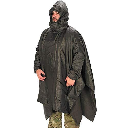Snugpak Poncho Liner, Water Repellent, Lightweight, Dedicated Sleeves and Hood, Black