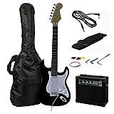 Rockjam pleine grandeur Guitare électrique Superkit avec amplificateur de guitare, cordes de guitare, sangle de guitare, Sac guitare et câble - Noir