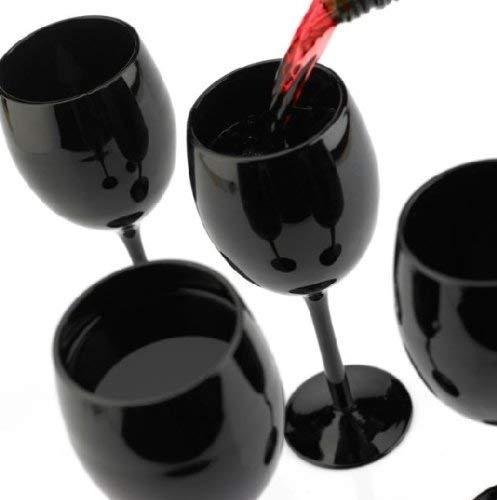 Weingläser Set 300ml im 4er-Pack Schwarze Rotweingläser Weißweingläser Weinkelch