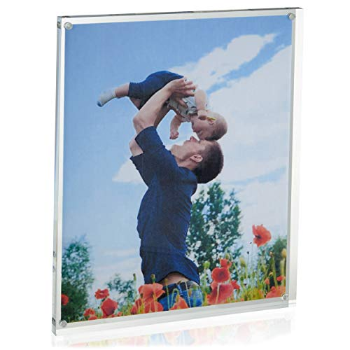 Juvale Magnetic Acrylic Picture Frame for 8.5 x 11 Inch Photo