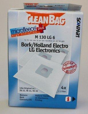 CleanBag bolsas de aspiradora m130lg6para Bomann, Bork, Clatronic/CTC, Holland Electro, LG