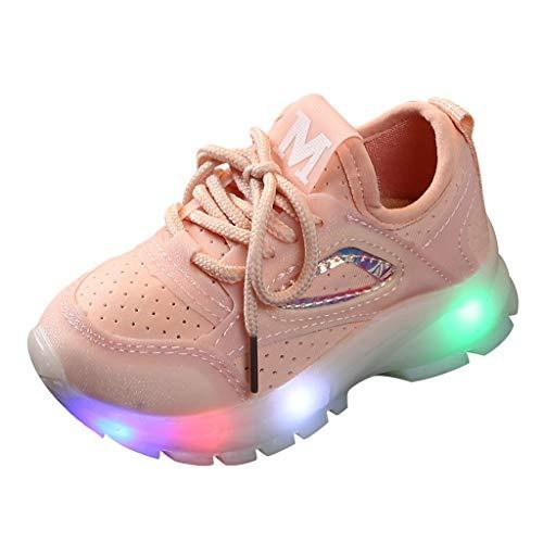 Piebo-Babyschuhe Jungen Mädchen Kleinkind Kinder LED Leuchtschuhe Weiß Turnschuhe Striped Sneaker Casual Schuhe Sportschuhe Outdoor Rot Schwarz Grün 20 EU-29 EU