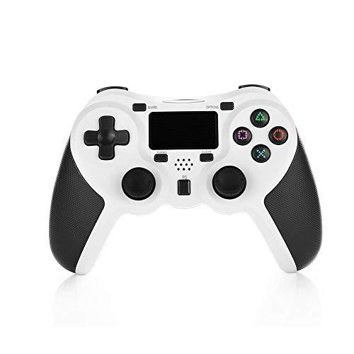COOLEAD - Mando inalámbrico para Playstation 4, DualShock 4, color negro blanco Blanco