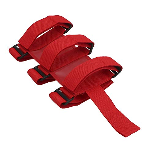 LIZONGFQ Zhang Asia Fit for car roll bar Auto feuerlöscher Montage Gurt Fixed sungy fit for Jeep Wrangler tj jk jl 97-18 einstellbar feuerlöscher Halter (Color : Red)