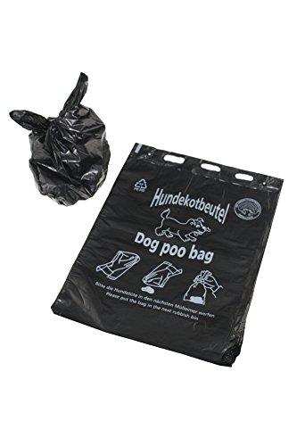 1000 Stück Hundekotbeutel, biologisch abbaubar, 20 x 31+3 cm, zu 100 Stück geblockt